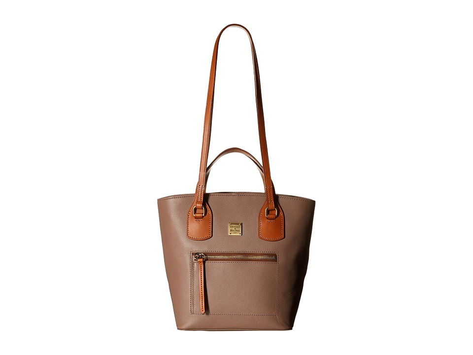 Dooney & Bourke - Raleigh Small Tara Shopper (Mushroom/Natural Trim) Handbags