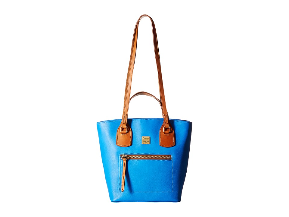 Dooney & Bourke - Raleigh Small Tara Shopper (Ocean/Natural Trim) Handbags