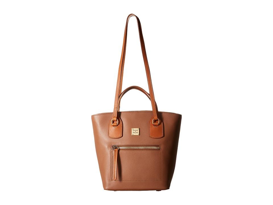 Dooney & Bourke - Raleigh Small Tara Shopper (Saddle/Natural Trim) Handbags