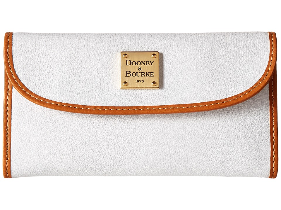 Dooney & Bourke - Raleigh Continental Clutch (White/Natural Trim) Clutch Handbags