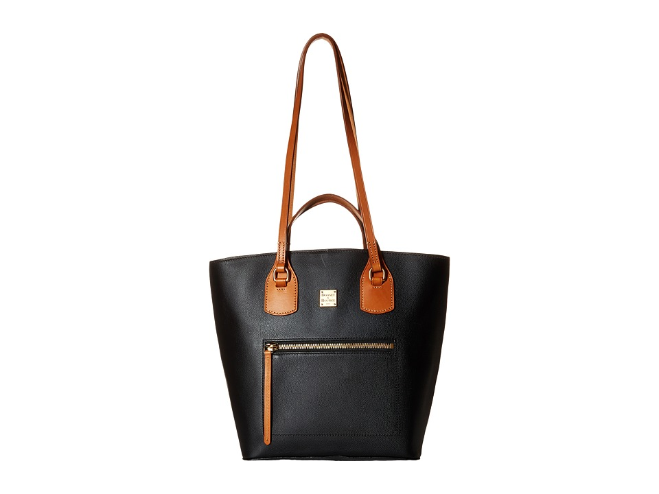 Dooney & Bourke - Raleigh Tara Shopper (Black/Natural Trim) Handbags