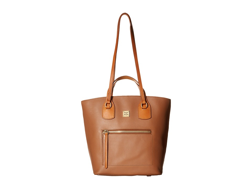 Dooney & Bourke - Raleigh Tara Shopper (Saddle/Natural Trim) Handbags