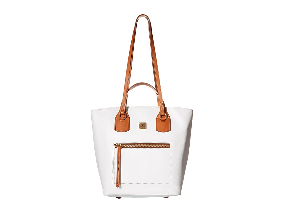Dooney & Bourke - Raleigh Tara Shopper (White/Natural Trim) Handbags