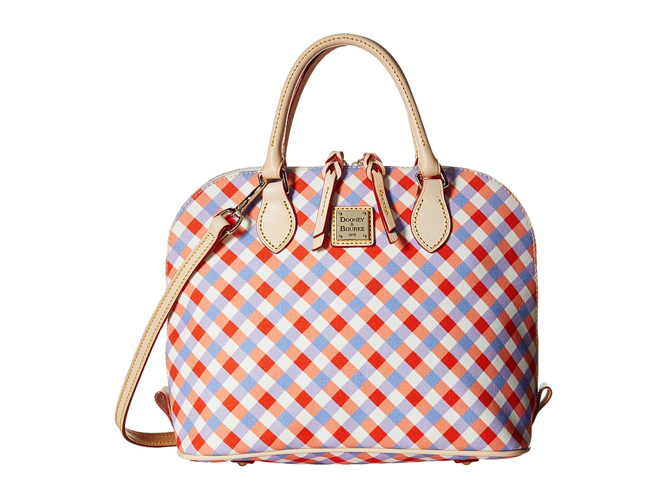 Dooney & Bourke - Elsie Zip Zip Satchel (Geranium/Lavender/Natural Trim) Satchel Handbags