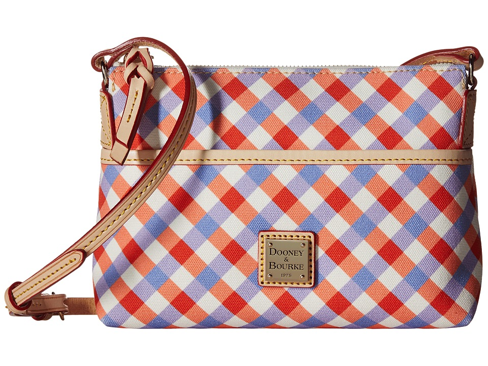 Dooney & Bourke - Elsie Ginger Crossbody (Geranium/Lavender/Natural Trim) Cross Body Handbags