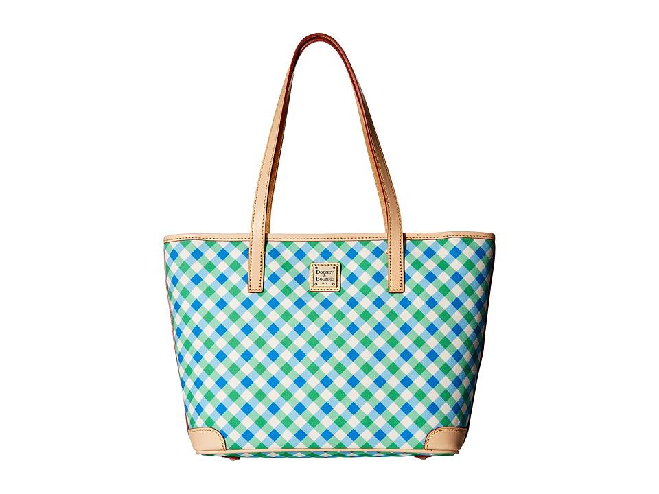 Dooney & Bourke - Elsie Charleston Shopper (Blue/Green/Natural Trim) Handbags