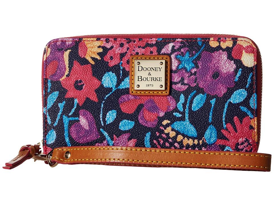Dooney & Bourke - Marabelle Zip Around Phone Wristlet (Black/Natural Trim) Wristlet Handbags