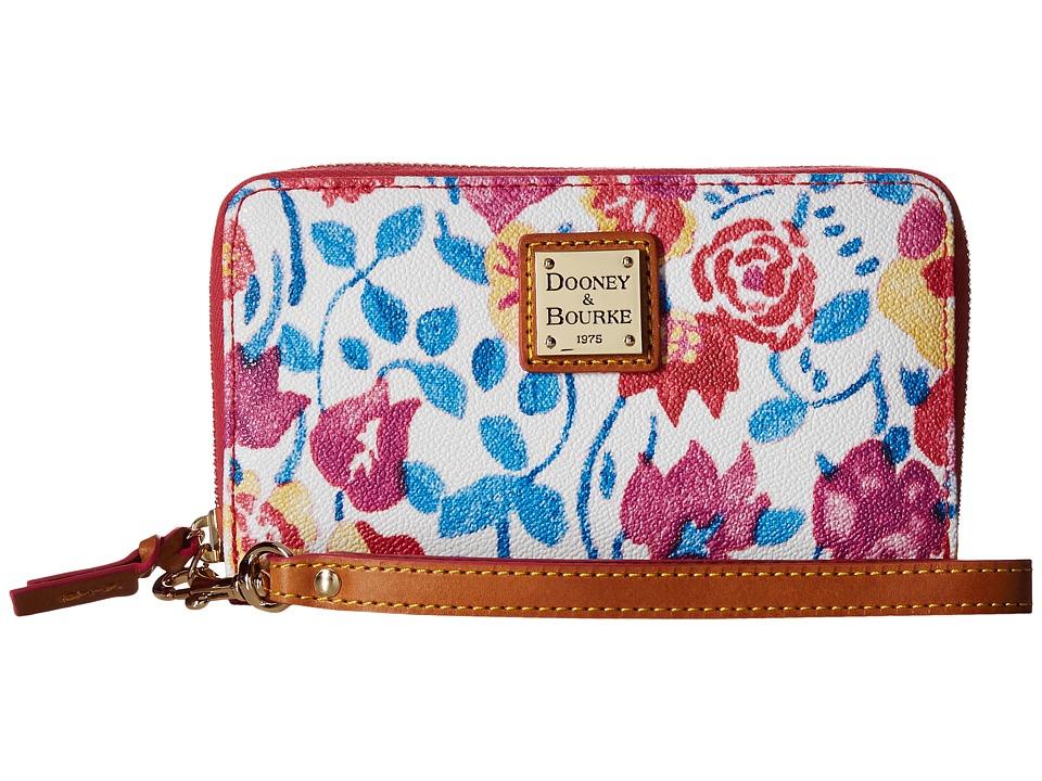 Dooney & Bourke - Marabelle Zip Around Phone Wristlet (White/Natural Trim) Wristlet Handbags