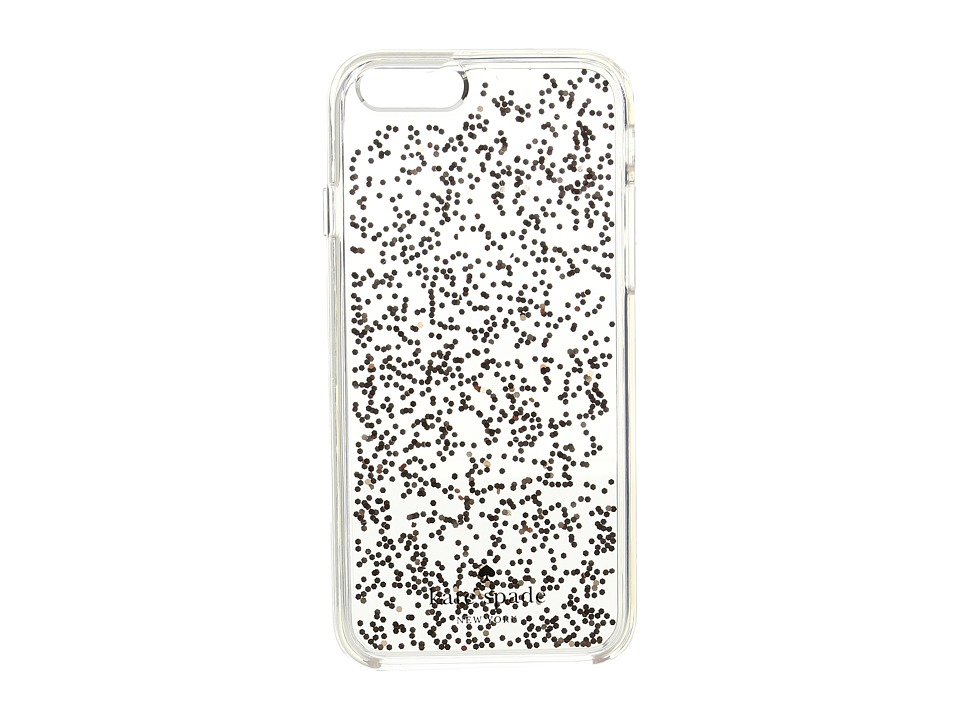 Kate Spade New York - Glitter Clear Phone Case for iPhone 6 (Rose Gold) Cell Phone Case