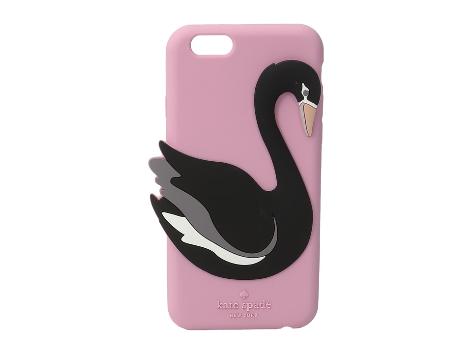Kate Spade New York - Silicone Swan Phone Case for iPhone 6 (Pink Multi) Cell Phone Case