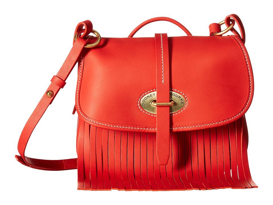 Dooney & Bourke - Lulu Fiona Crossbody (Red/Red Trim) Cross Body Handbags