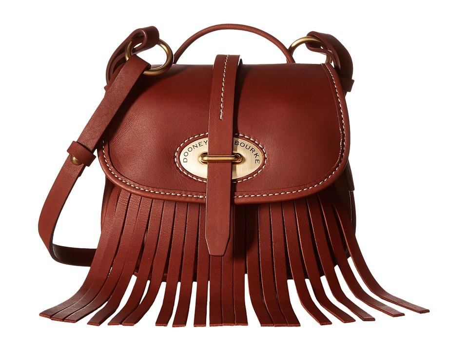 Dooney & Bourke - Lulu Small Fiona Crossbody (Brown/Brown Trim) Cross Body Handbags