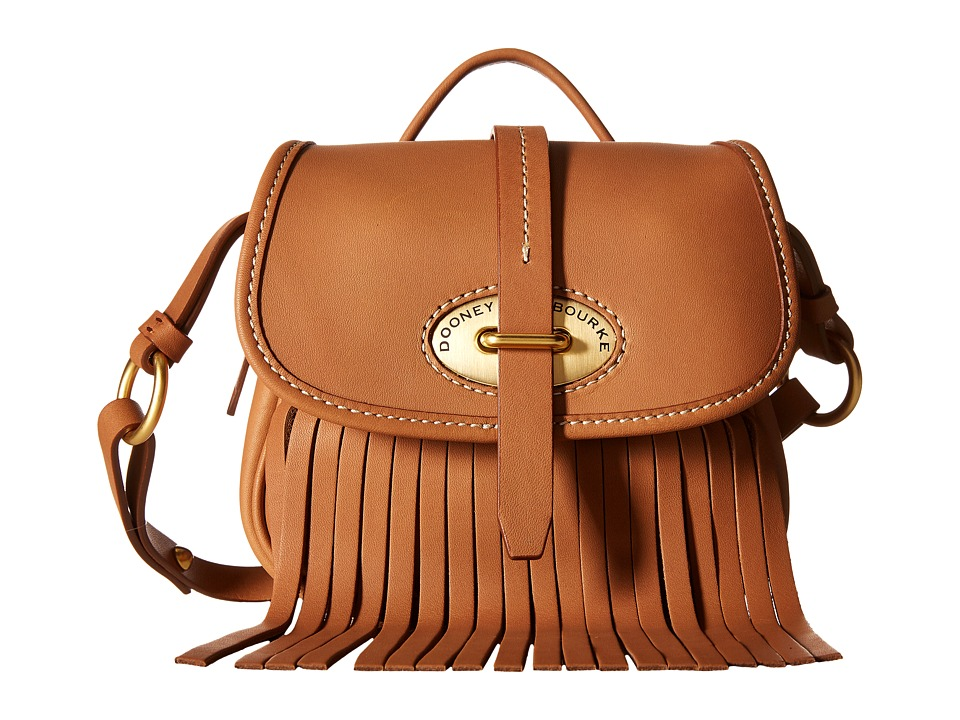 Dooney & Bourke - Lulu Small Fiona Crossbody (Saddle/Saddle Trim) Cross Body Handbags
