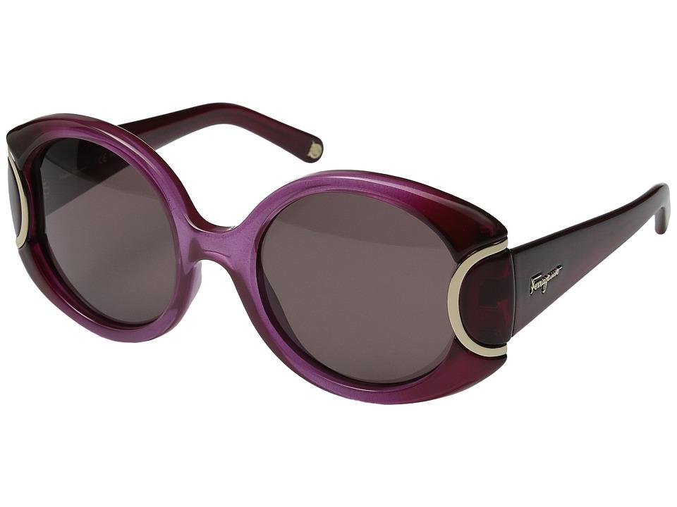 Salvatore Ferragamo - SF811S (Burgundy Gradient) Fashion Sunglasses