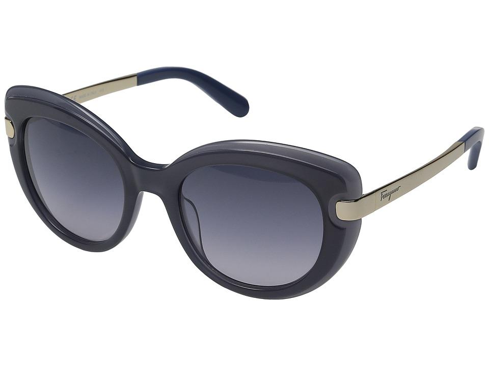 Salvatore Ferragamo - SF813S (Dark Blue/Blue) Fashion Sunglasses