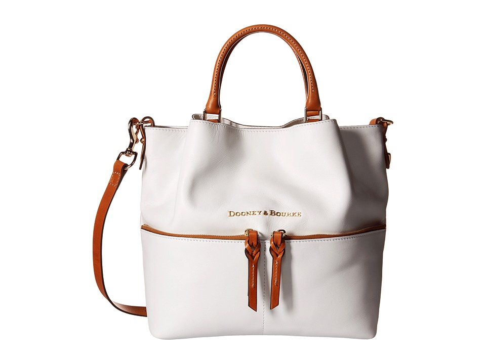 Dooney & Bourke - City Dawson (White/Natural Trim) Satchel Handbags