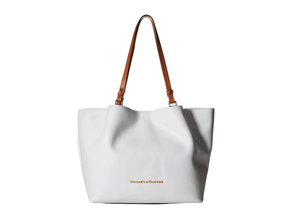 Dooney & Bourke - City Flynn (White/Natural Trim) Tote Handbags