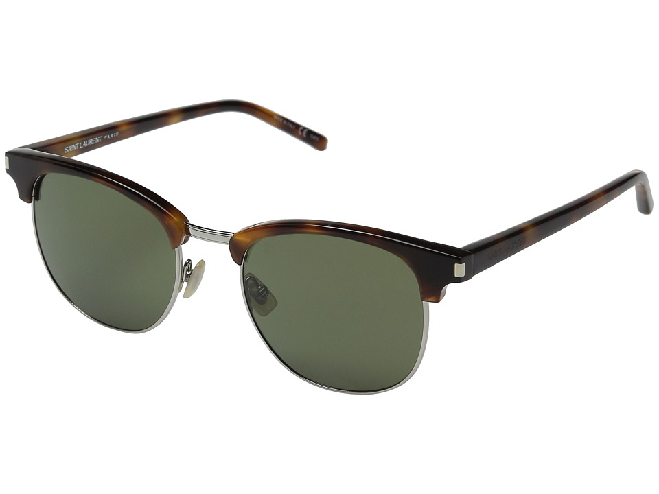 Saint Laurent - SL 108 Surf (Ivory/Silver Mirror) Fashion Sunglasses