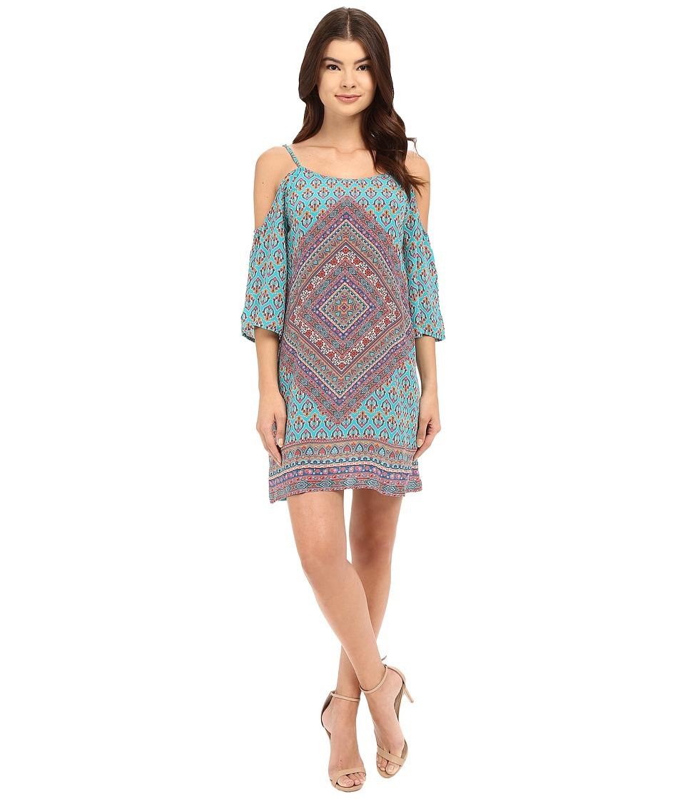 Tolani - Farah Cold Shoulder Dress (Aqua) Women's Dress
