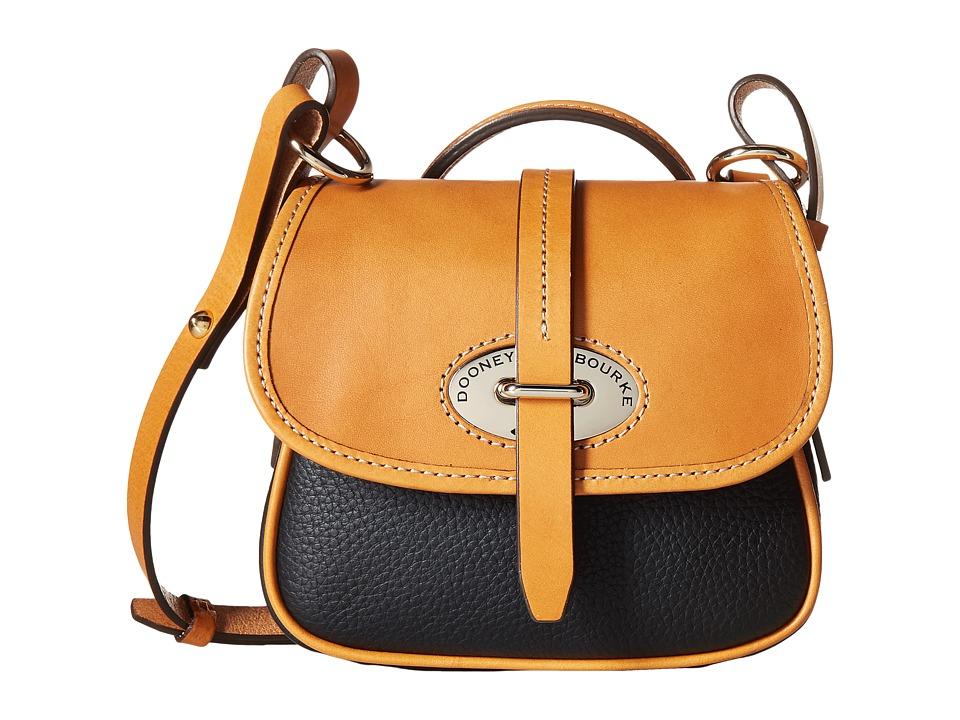 Dooney & Bourke - Verona Bionda Mini Cristina (Black/Butterscotch Trim) Cross Body Handbags