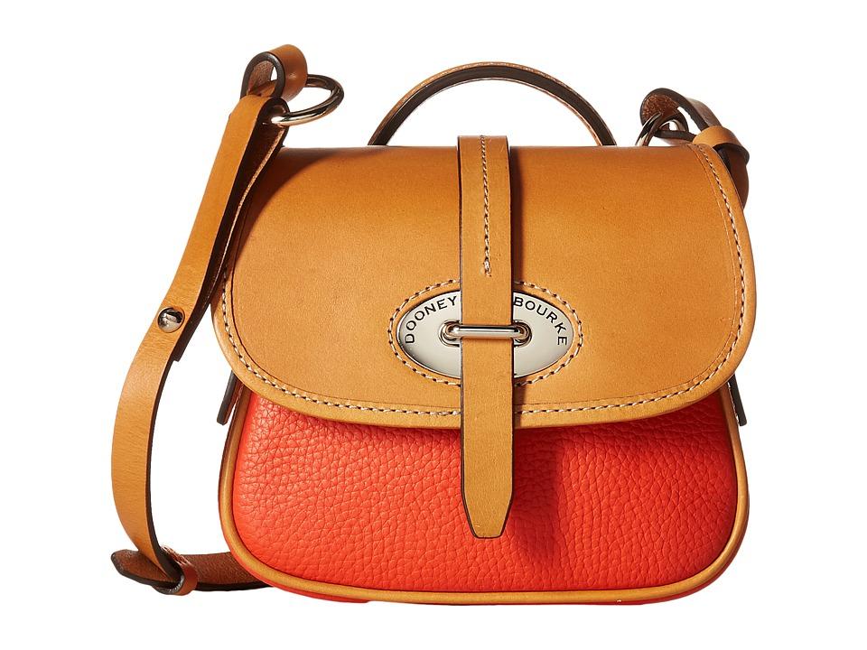 Dooney & Bourke - Verona Bionda Mini Cristina (Persimmon/Butterscotch Trim) Cross Body Handbags