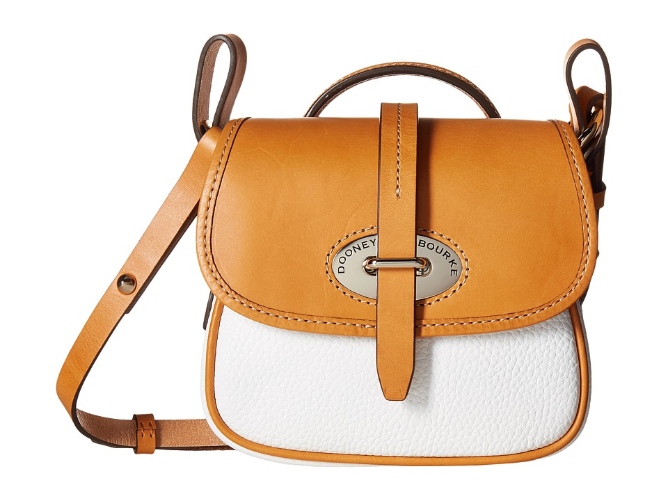 Dooney & Bourke - Verona Bionda Mini Cristina (White/Butterscotch Trim) Cross Body Handbags