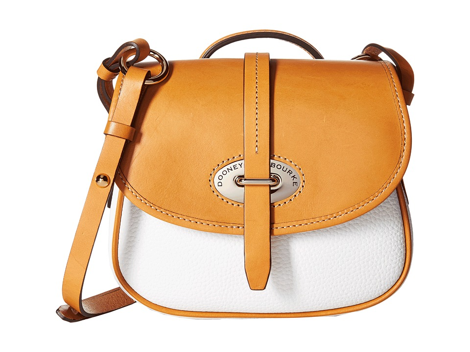 Dooney & Bourke - Verona Bionda Cristina (White/Butterscotch Trim) Handbags