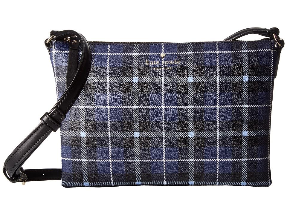 Kate Spade New York - Hawthorne Lane Plaid Carolyn (Diver Blue) Handbags