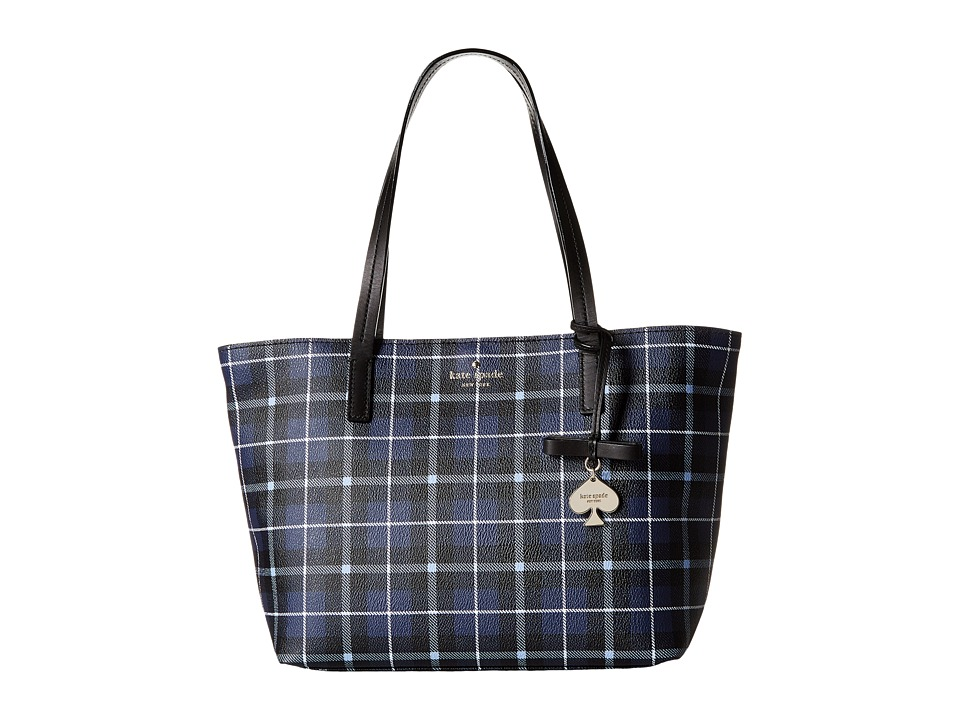 Kate Spade New York - Hawthorne Lane Plaid Small Ryan (Diver Blue) Handbags