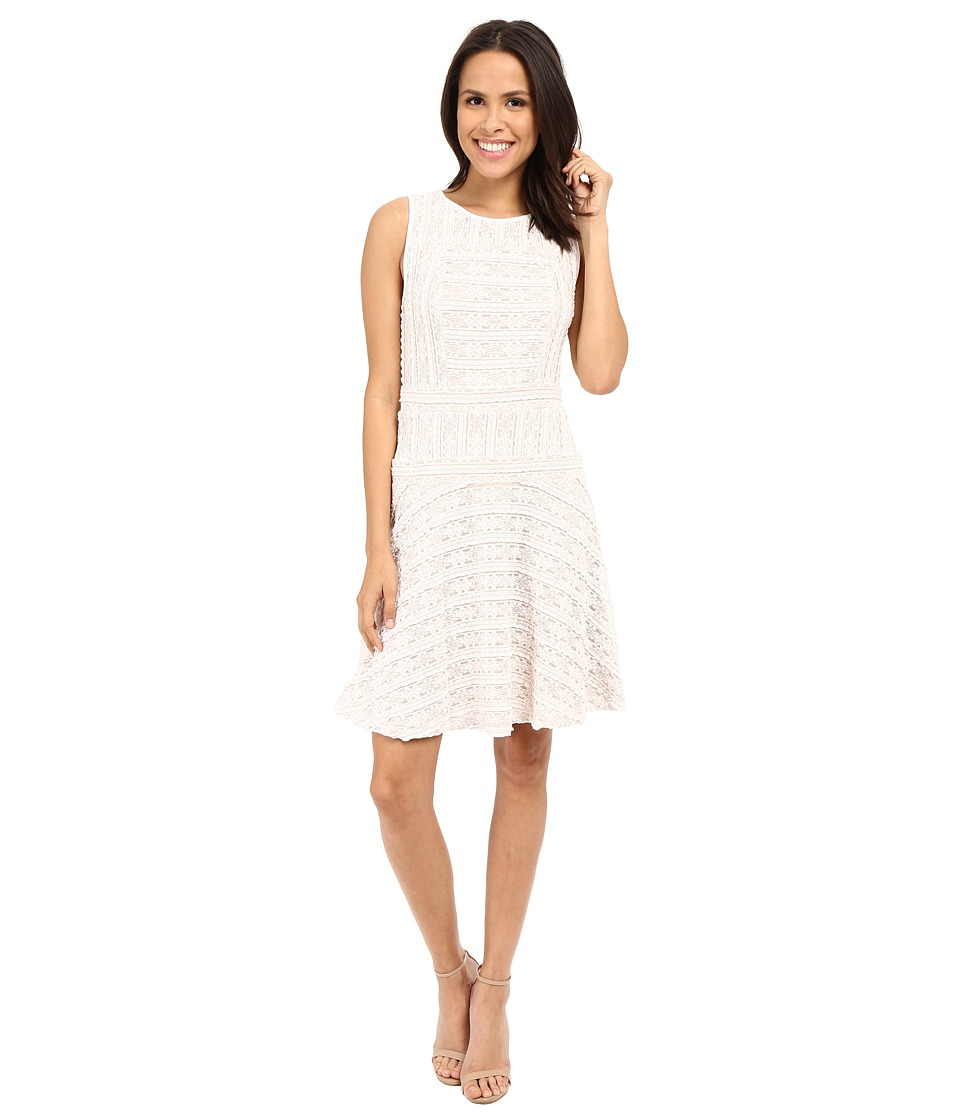 Vince Camuto - Sleeveless Horizontal Lace Flare Dress (New Ivory) Women's Dress