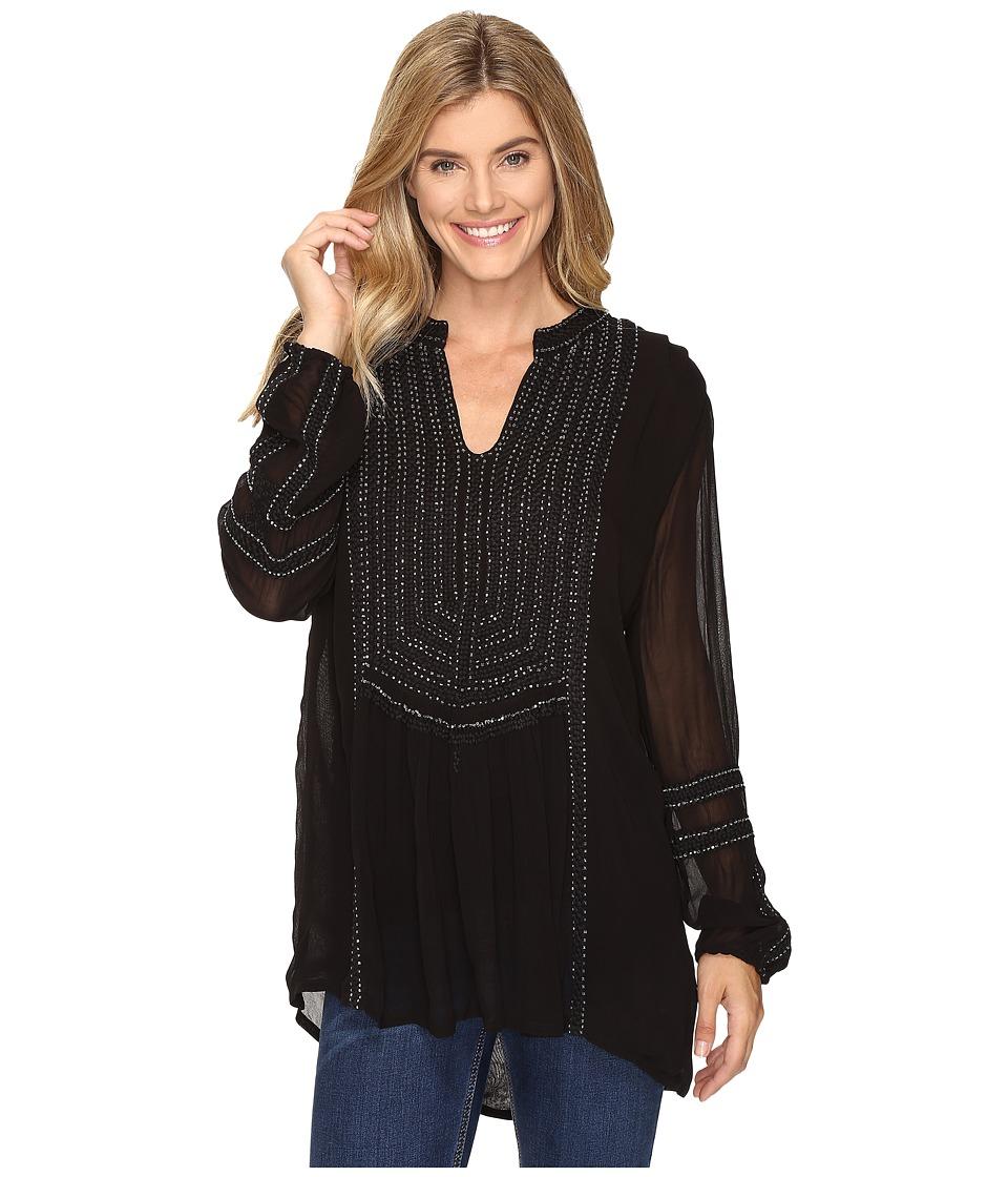 Tolani - Ramina Embroidered Tunic (Night) Women's Clothing