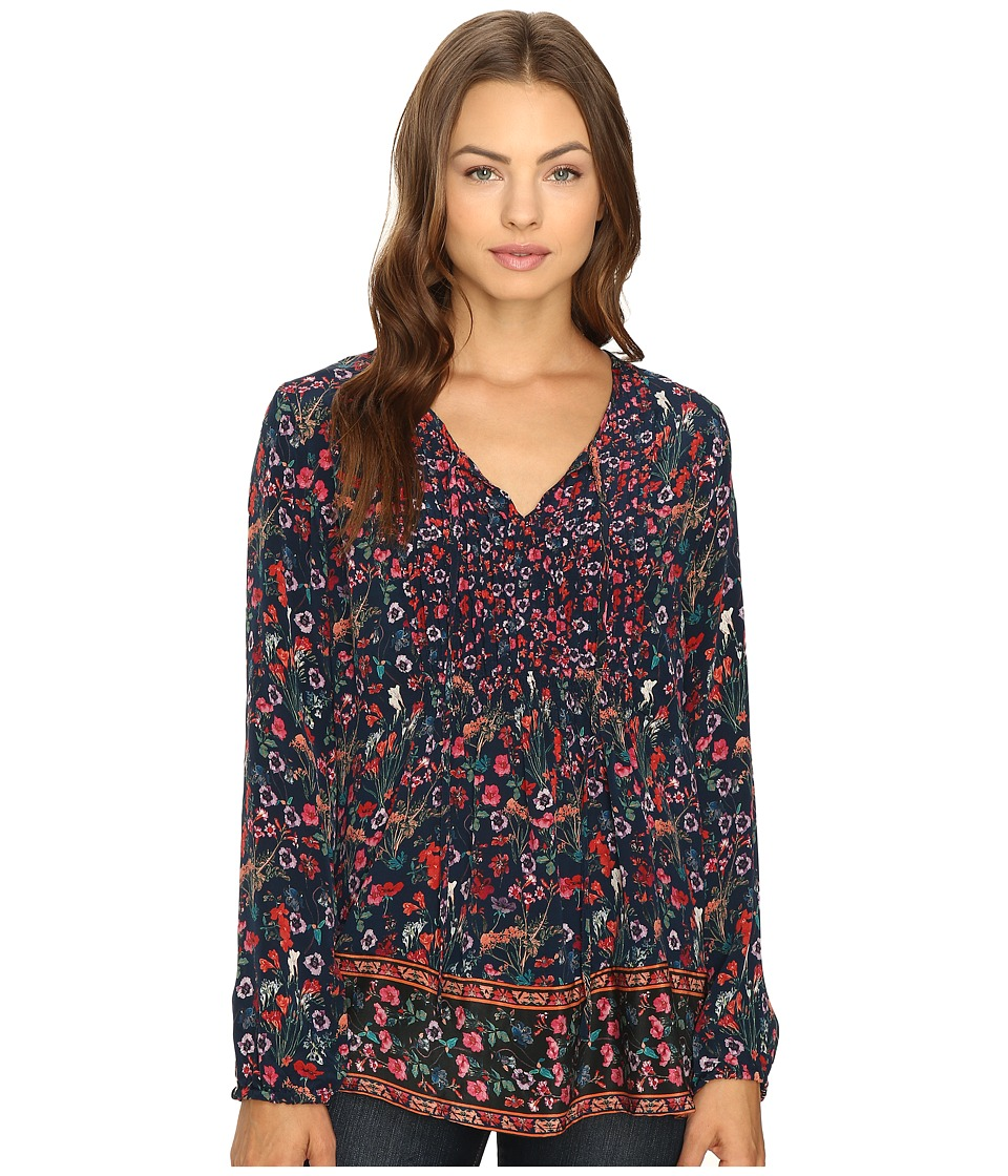 Tolani - Sonya Top (Navy Botanic) Women's Clothing