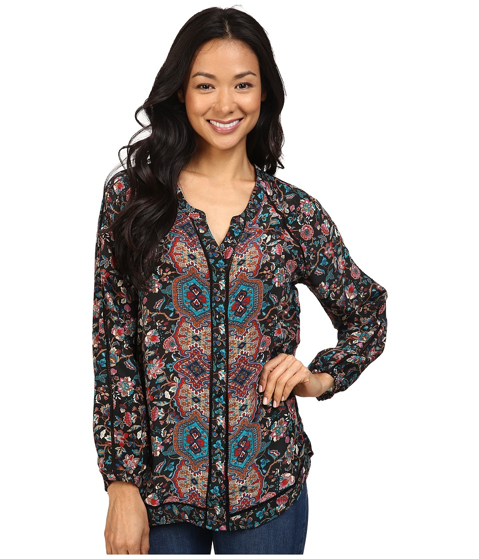 Tolani - Lyric Top (Black Floral) Women's Clothing