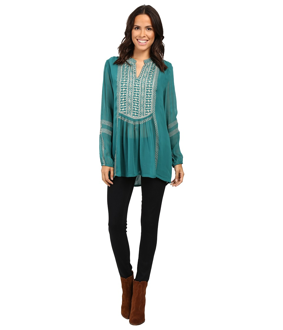 Tolani - Lauren Embroidered Top (Caribbean) Women's Clothing