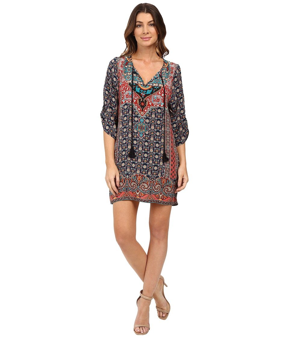 Tolani - Lexi Tunic Dress (Indigo) Women's Dress