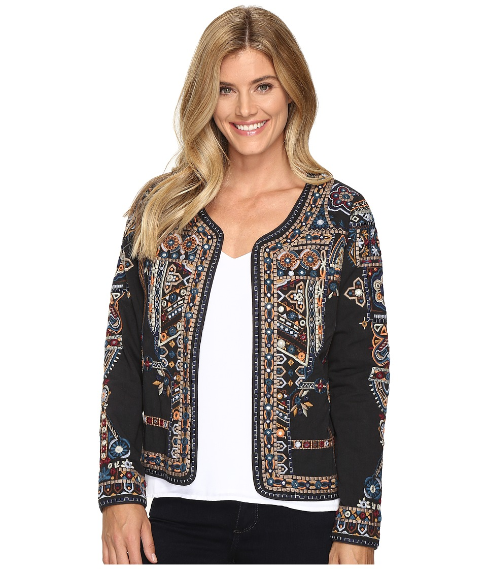 Tolani - Mandy Embroidered Jacket (Metal) Women's Coat