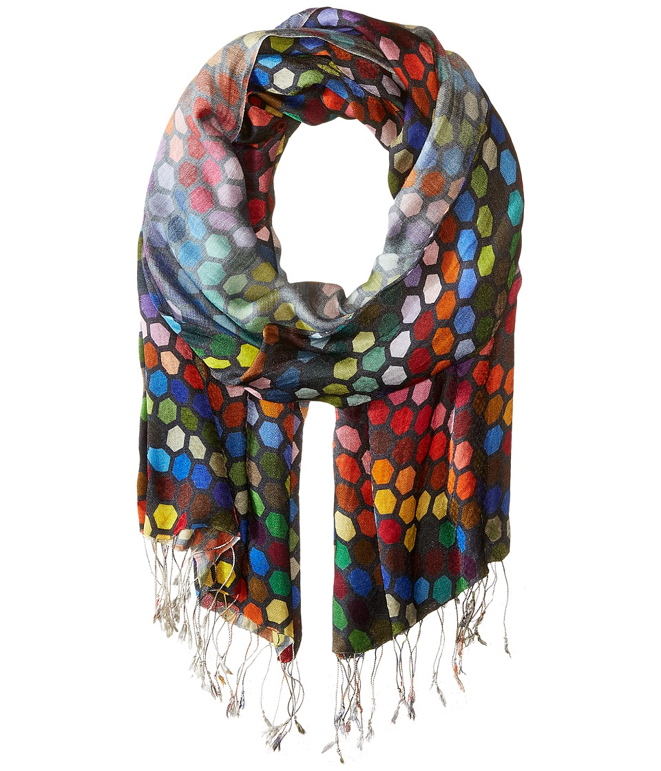 Tolani - Hexagon Scarf (Black) Scarves