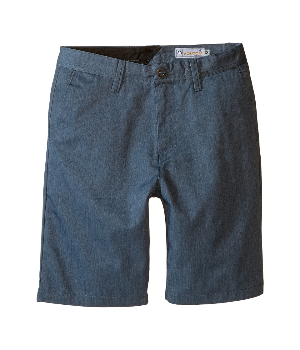 Volcom Kids - Frickin Chino Shorts (Big Kids) (Airforce Blue) Boy's Shorts