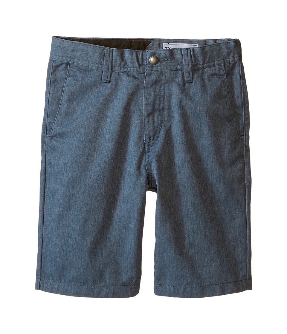 Volcom Kids - Frickin Chino Shorts (Toddler/Little Kids) (Airforce Blue Heather) Boy's Shorts