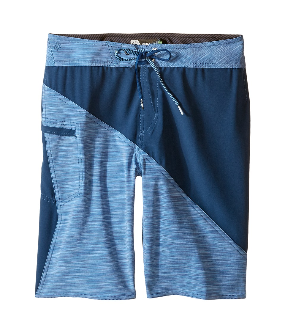 Volcom Kids - Liberation Mod Boardshorts (Big Kids) (Blue) Boy's Swimwear