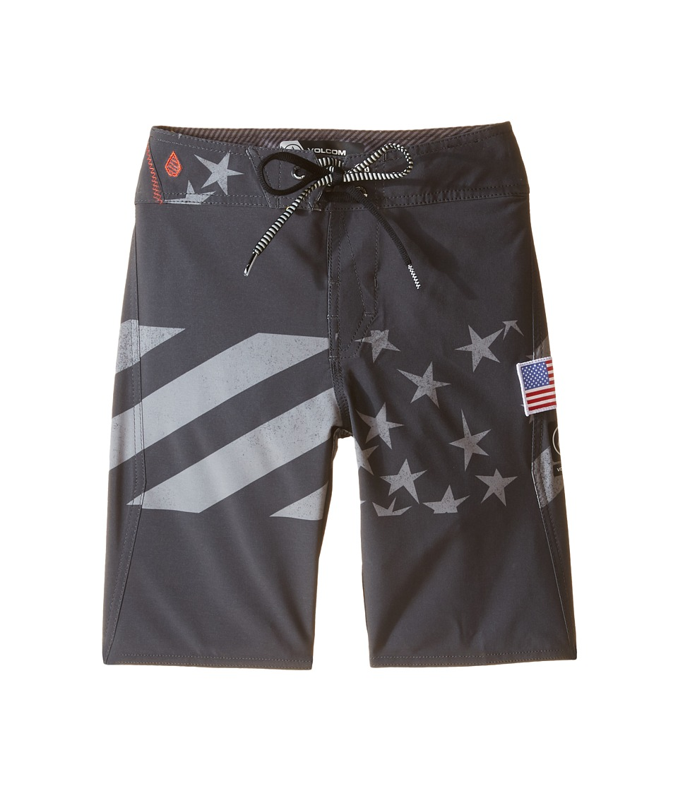 Volcom Kids - Merry Kah Mod Boardshorts (Big Kids) (Black) Boy's Swimwear