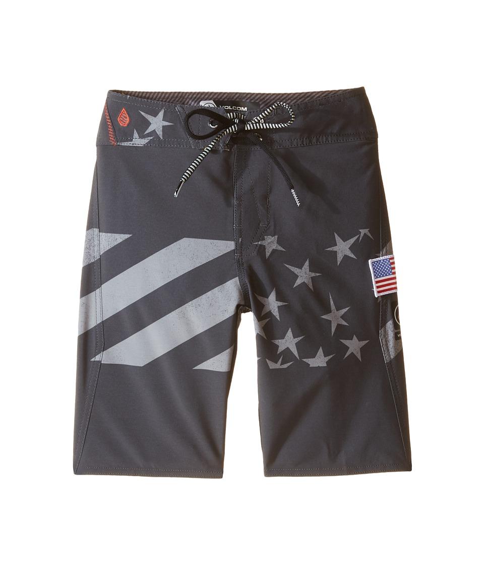 Volcom Kids - Merry Kah Mod Boardshorts (Big Kids) (Black) Boy's Swimwear