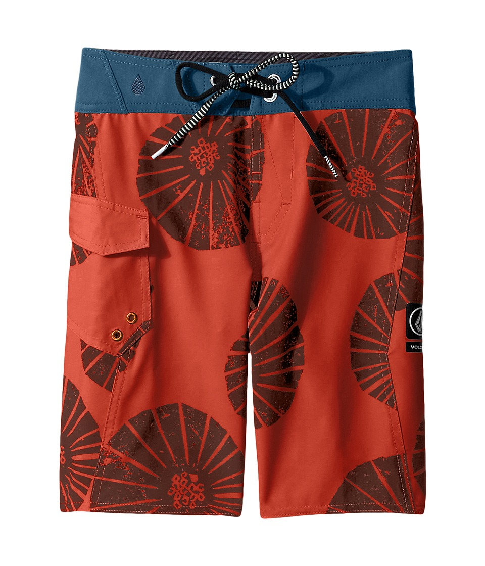 Volcom Kids - Summa Mod Boardshorts (Big Kids) (Burnt Orange) Boy's Swimwear