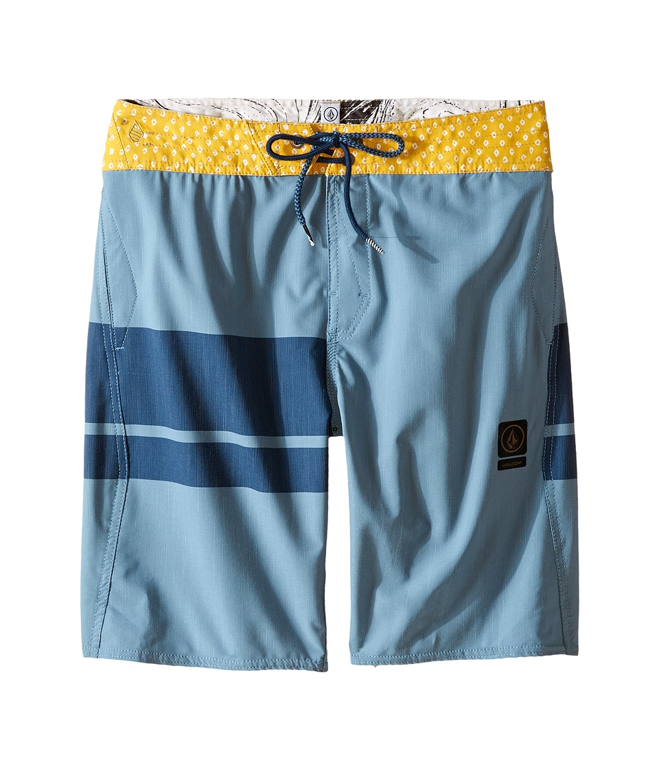 Volcom Kids 3 Quarta Slinger Boardshorts (Big Kids) (Blue Fog) Boy