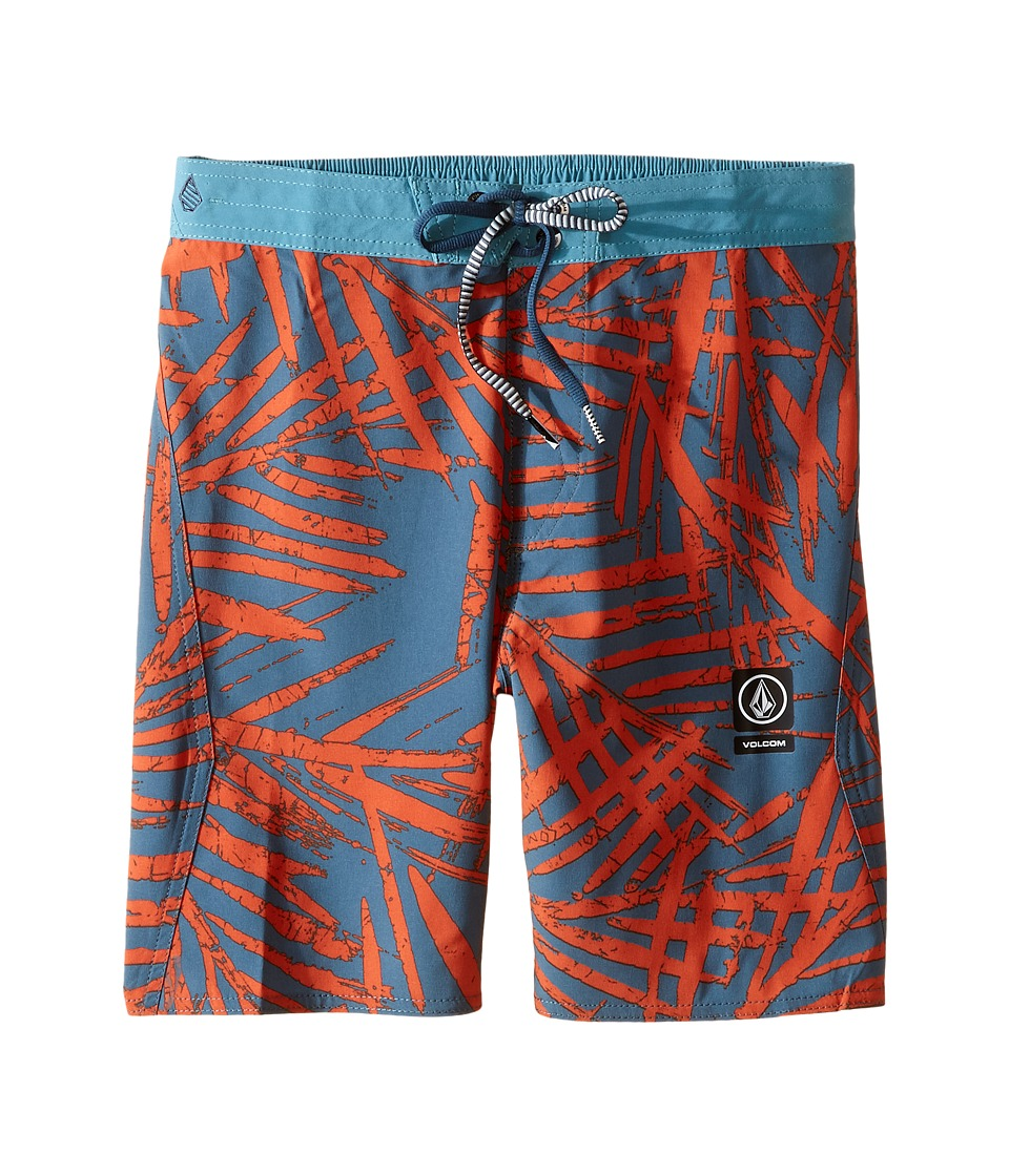 Volcom Kids - Party Pack Batik Boardshorts (Little Kids/Big Kids) (Airforce Blue) Boy's Swimwear