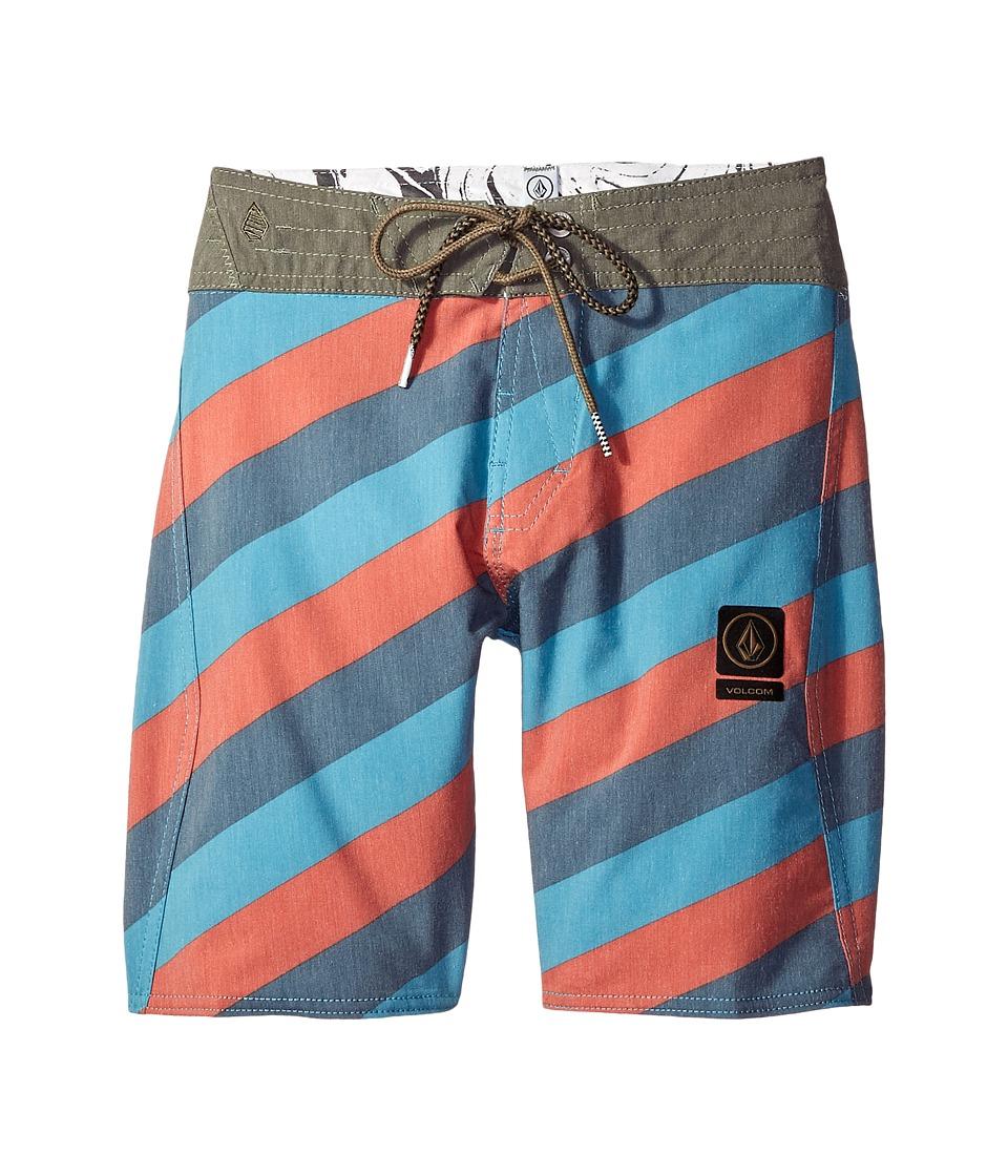 Volcom Kids Stripey Slinger Boardshorts (Big Kids) (Airforce Blue) Boy