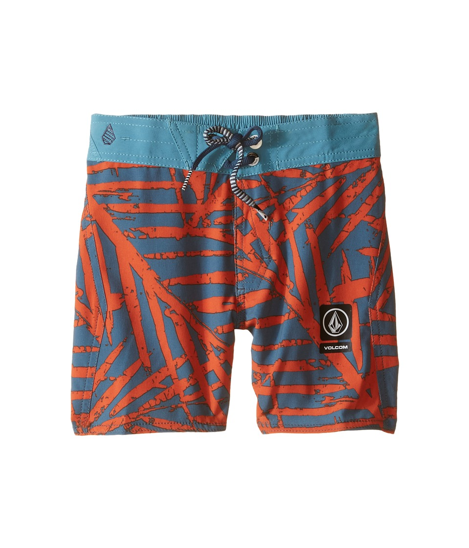 Volcom Kids - Party Pack Batik Boardshorts (Toddler/Little Kids) (Airforce Blue) Boy's Swimwear