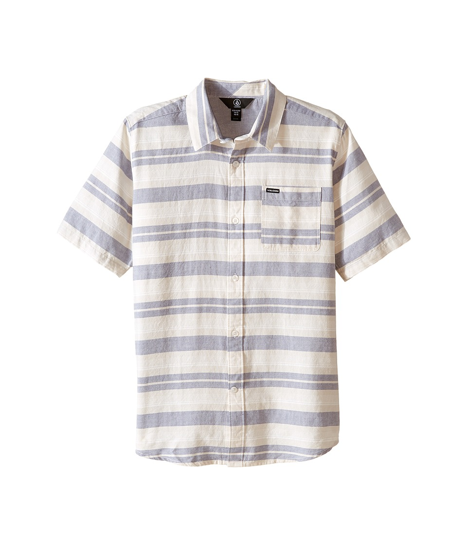 Volcom Kids - Camper Short Sleeve Top (Big Kids) (Blue Fog) Boy's Short Sleeve Button Up