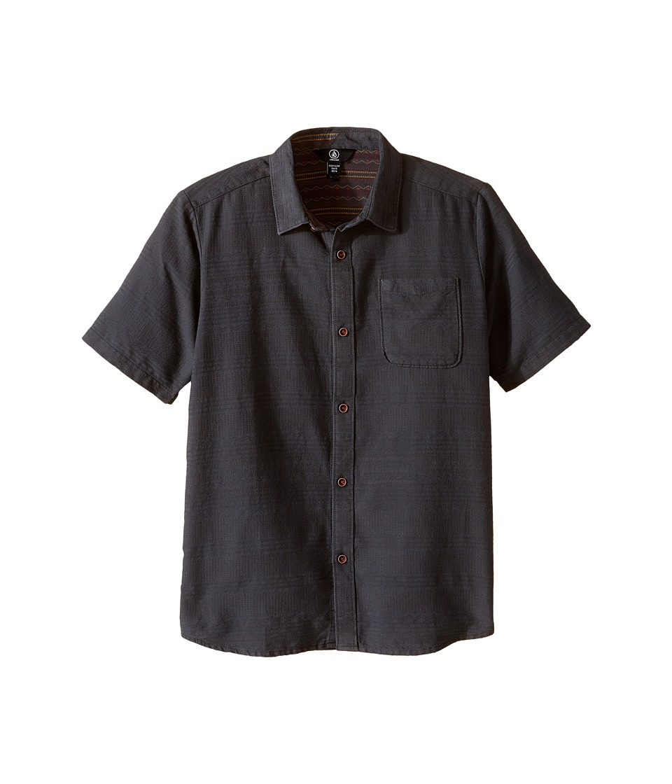 Volcom Kids - Sampson Short Sleeve Top (Big Kids) (Stealth) Boy's Short Sleeve Button Up