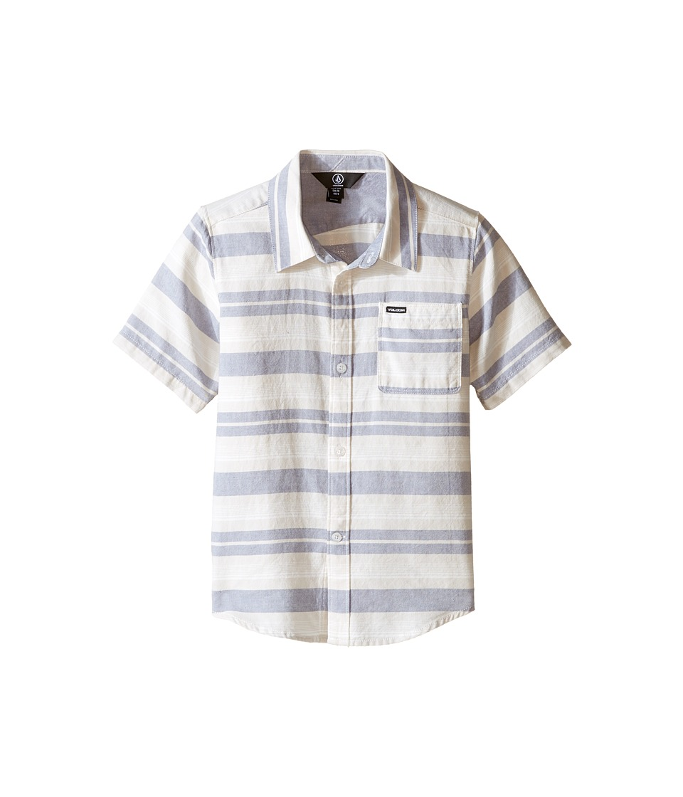 Volcom Kids - Camper Short Sleeve Top (Toddler/Little Kids) (Blue Fog) Boy's Short Sleeve Pullover